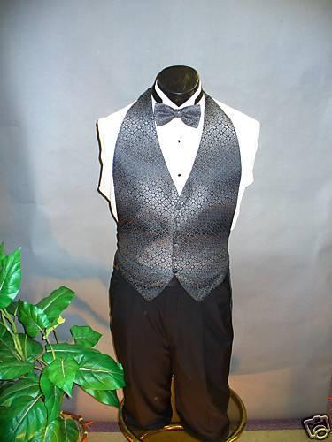 Charcoal Formal Vest Backless 535