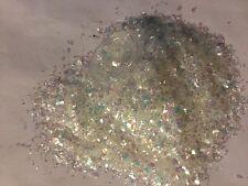 Bellissimi Glitter Bianco Ghiaccio in MYLAR per applicazioni in Acrilico & Gel