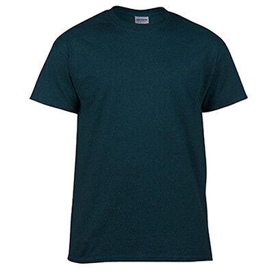Heather Sapphire LOW PRICE Blank Men/'s T Shirt Plain Work Mens Gildan Tee