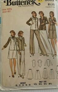 Vintage-3091-Butterick-B-7-Moda-Uno-Patron-de-Costura-Talla-18-1-2-Bust-104cm
