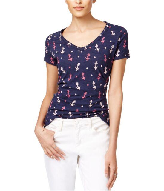 maison Jules Womens Anchor Basic T-Shirt blunotteco 2XL