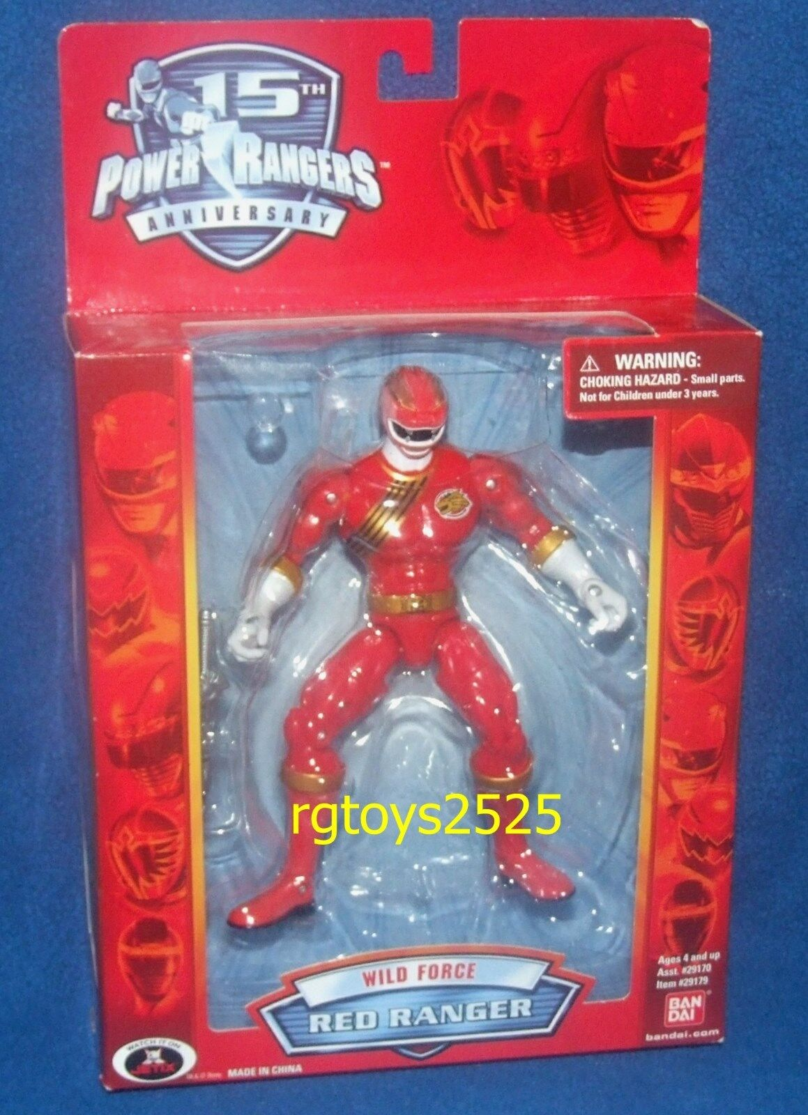 Power Rangers Wild Force Red Ranger 6  New 15th Anniversary Edition 2007