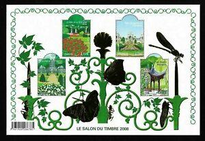 Bloc-Feuillet-2008-N-120-Timbres-France-Le-Salon-du-Timbre-2008-Cote-80-00