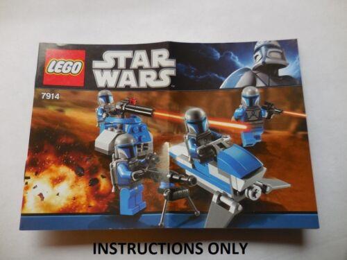 INSTRUCTIONS Lego Star Wars 7914 Mandalorian Bat  Instructions Only NEW Original