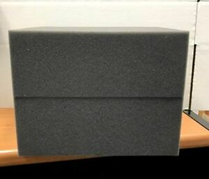 """2 Firm High Density Charcoal Foam Blocks for Packing Shipping 12"""" x 9.5"""" x 4.5"""""""