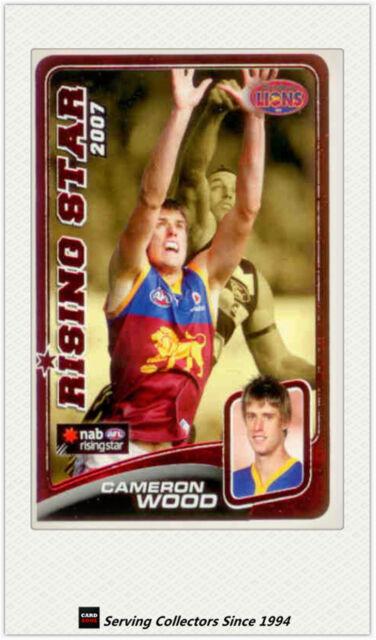 2008 Herald Sun AFL Trading Cards Risingstar Nominee RSN2 C. Wood (Brisbane)