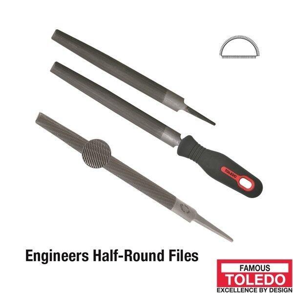 TOLEDO Half Round File Smooth - 300mm 6 Pk 12HR03BU x6