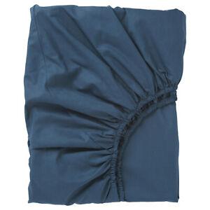 Ikea  ULLVIDE Spannbettlaken, dunkelblau 90 x 200 x 26 cm Neu