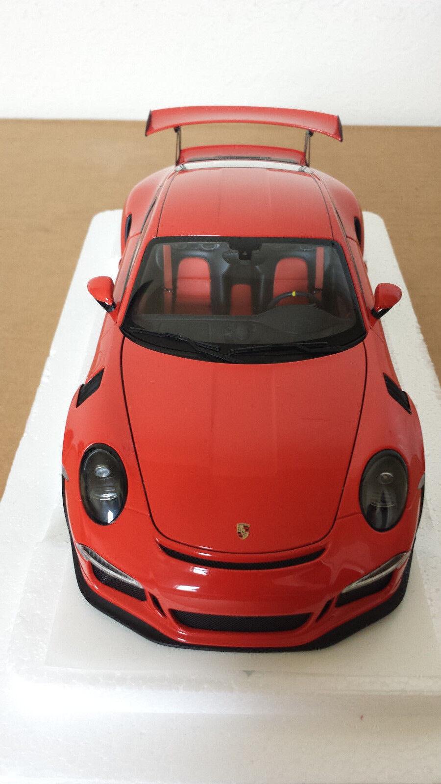 Autoart 78168 Porsche 911 991 GT3 RS 1 18 Lava Naranja Con Ruedas gris oscuro