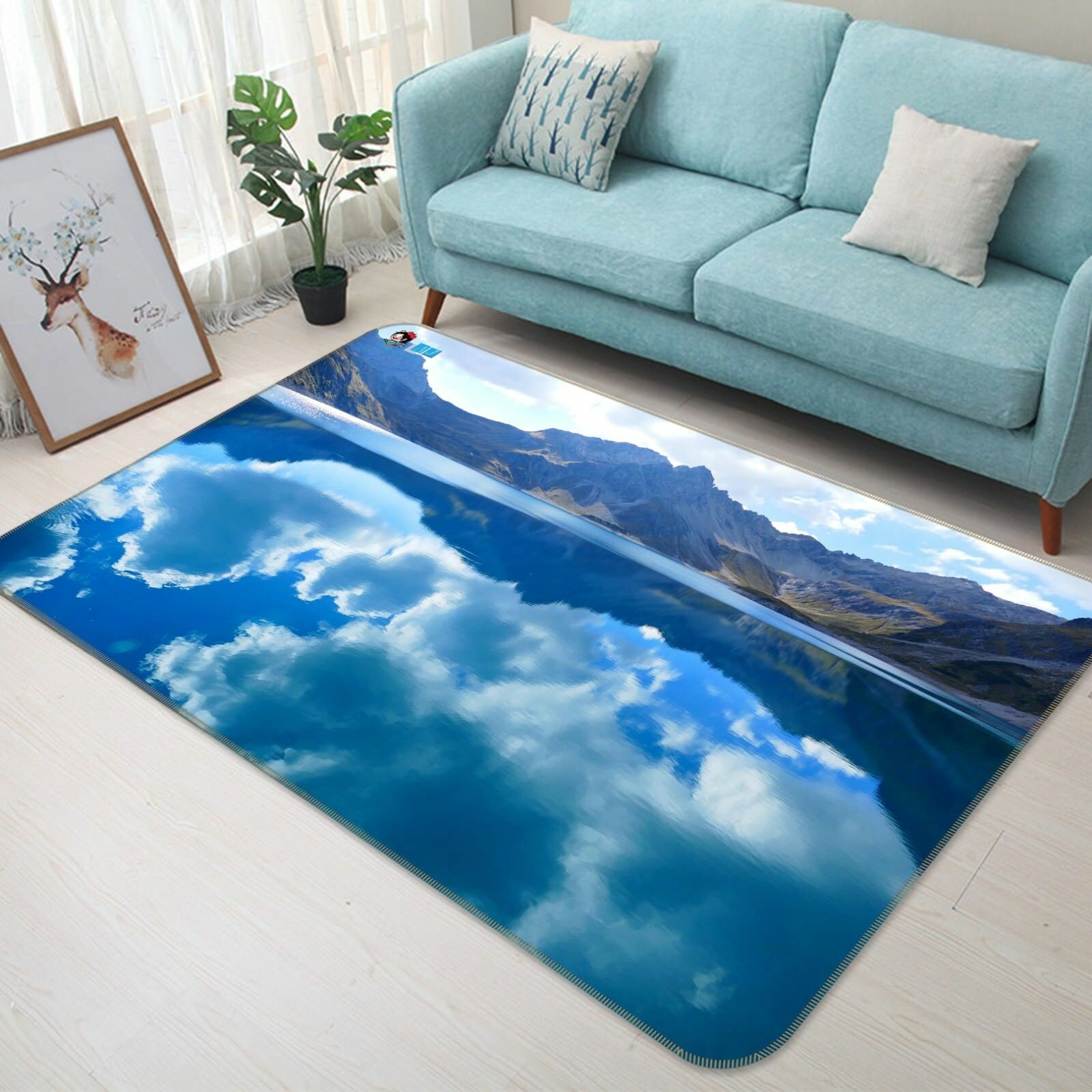 3D Calm blu Lake 2138 Non Slip Rug Mat Room Mat Quality Elegant Photo Carpet AU