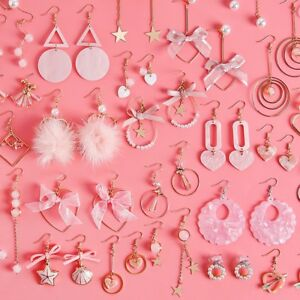 Korean-Women-Acrylic-Star-Tassel-Pearl-Geometric-Drop-Dangle-Earrings-Jewelry