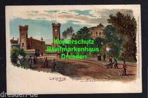 118458 AK Leipzig Litho um 1900 Magdeburger u. Dresdner Bahnhof von der Giethest - Dresden, Deutschland - 118458 AK Leipzig Litho um 1900 Magdeburger u. Dresdner Bahnhof von der Giethest - Dresden, Deutschland