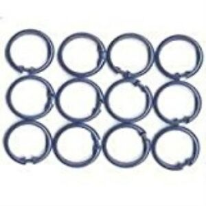 Homebasix SD-ORING-W3L Shower Curtain O-Ring, 12 Pieces