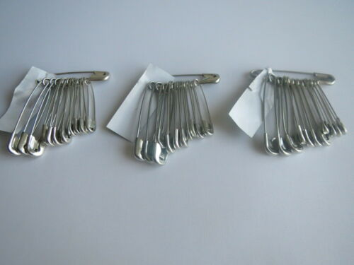 50 100 200 Safety Pins Silver Large Medium Small 28mm 58mm Long For daily use