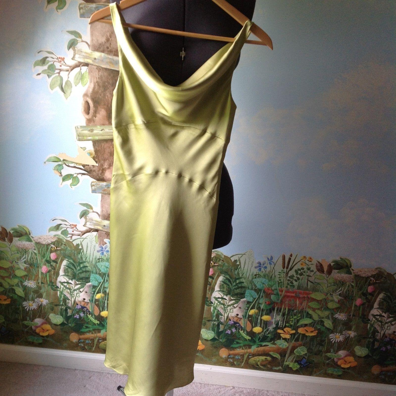 Jones New York Green Sleeveless Silk Lined Dress Size 6