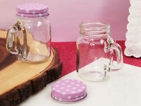 20 Mason Jar Favor Pink Or Mint Green Lid 5oz Wedding Favors Baby Bridal Shower