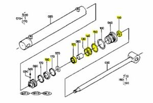 kubota tractor wiring diagrams opc oem kubota 78620 32300 cylinder 6 pc seal kit for bt650 bt650ar  oem kubota 78620 32300 cylinder 6 pc