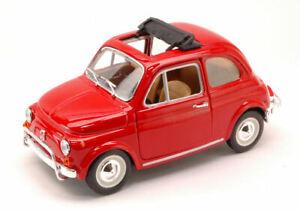 Modello-Auto-Fiat-500-L-SCALA-1-24-veicoli-Diecast-Burago-modellcar-Eta