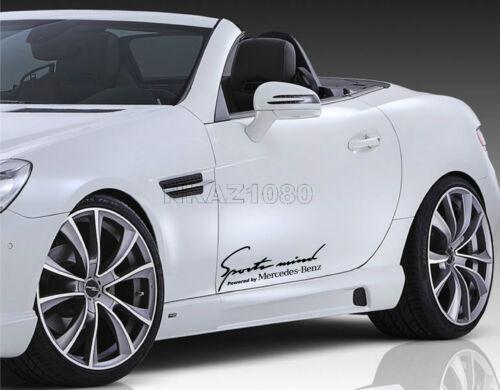 Sports mind Mercedes Benz Vinyl Decal Sport Racing sticker emblem logo BLACK
