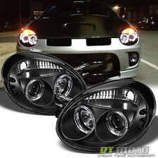 Black 03-05 Dodge Neon Halo Projector Led Headlights Lights Left+Right 2003-2005