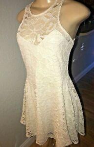 Material-Girl-Juniors-Crochet-Lace-Flare-Dress-White-Size-L-pkt