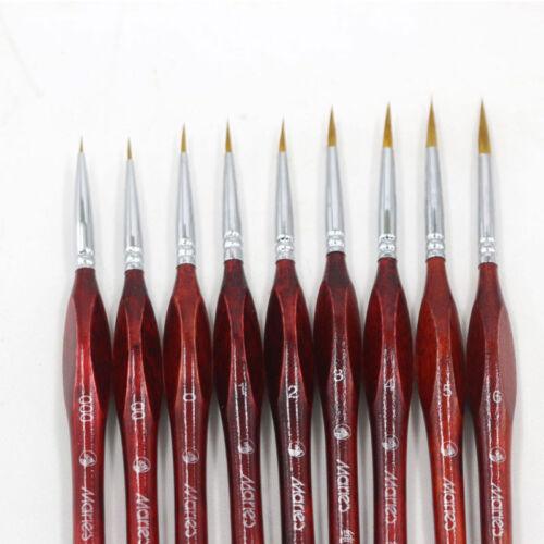 1PC Miniature Paint Brush Professional Sable Hair Detail for Fine Detailing New
