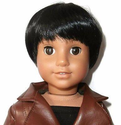 "Custom Doll Wig 10-11"" Black - Fits Logan"