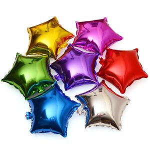 5Pcs-19-034-Wedding-Birthday-Party-Baby-Shower-Decor-Lot-Foil-Star-Balloons-Helium