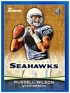 RUSSELL WILSON ROOKIE BOWMAN RC 2012 GOLD PARALLEL #116 SEATTLE SEAHAWKS 1-OWNER
