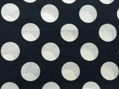 Cuarto gordo Azul Marino grandes manchas Polko FQ puntos círculos Acolchado 100/% algodón