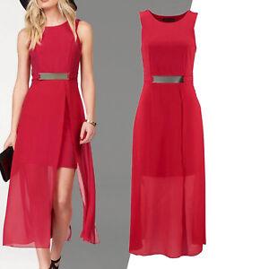 wow-sexy-kleines-rotes-KLEID-elegant-ROT-Abend-Party-Cocktail-Ball-Gr-XS-S-34-36