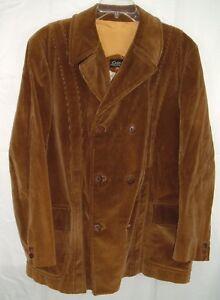 Vtg-Corduroy-Men-039-s-Smoking-Jacket-Cortefiel-of-Spain-Size-46-Blazer-Brown