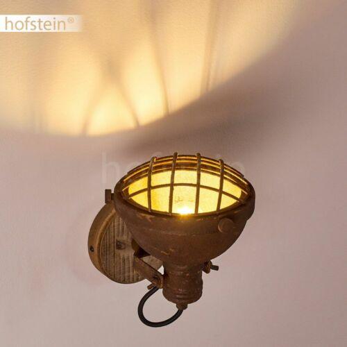 Holz//rostfarben Wand Lampen Vintage Wohn Schlaf Zimmer Leuchten Flur Strahler