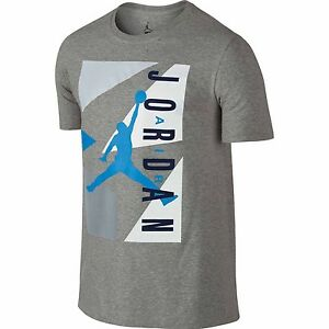 621767f4588 NEW NIKE JORDAN 92 RETRO MEN'S BASKETBALL T-SHIRT JUMPMAN GREY BLUE ...
