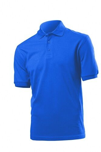 b76a8fbe Hanes Mens Classic Beefy Polo Shirt Royal Blue M for sale online   eBay