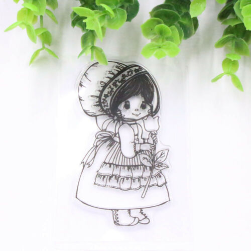 DIY Lovely Girl Transparent Clear Rubber Stamp Silicones Scrapbooking Decoration