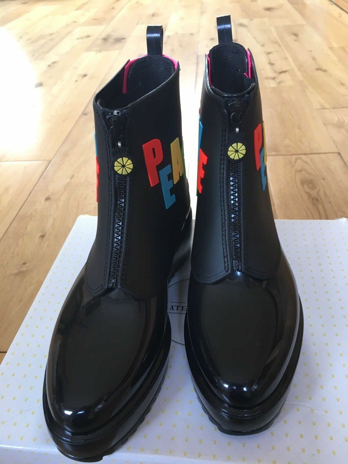 Lemon Jelly Tobillo Negro Botas Negro Tobillo Wellies c98d07