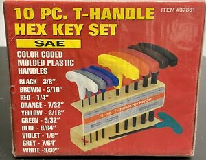 10 Piece SAE T-Handle Hex Key Wrench Set Pack of: 1 TP-16050