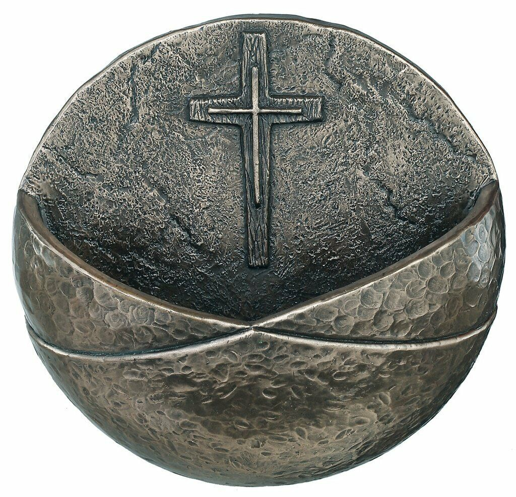 Genesis Bronze Christian Holy Holy Holy Water Font (RR004) 99a4c3
