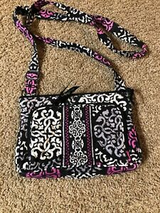 Image is loading Vera-Bradley-Little-Hipster-Canterberry-Magenta-Purse 9d437d8910b98