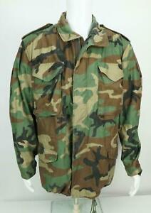 Woodland-Military-Field-Jacket-Coat-Cold-Weather-Camo-Medium-Reg