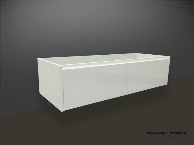 BATHROOM VANITY UNIT 1200mm POLYURETHANE WALL HUNG CABINET ONLY SATIN FINISH
