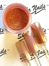Magic Mirror Chrome Rose Gold Pigment Nail Powder Sheba Nails 5 gram Jar