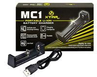 Xtar Mc1 Usb Battery Charger Li-ion 10440 Through 26650 14500/16340/18650