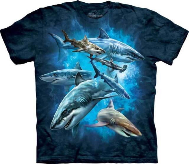 New SHARK COLLAGE T Shirt