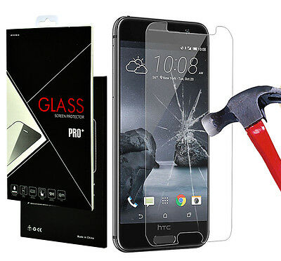 9H+ Premium Real Tempered Glass Screen Protector Protection Guard Film for HTC
