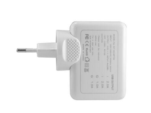 Energmix ® 4 veces puerto USB adaptador universal cargador de carga parte fuente de alimentación universalmente