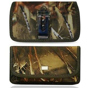 For-Samsung-Galaxy-Note-8-Nylon-Canvas-Pouch-Holster-Belt-Clip-Loop-Camouflage