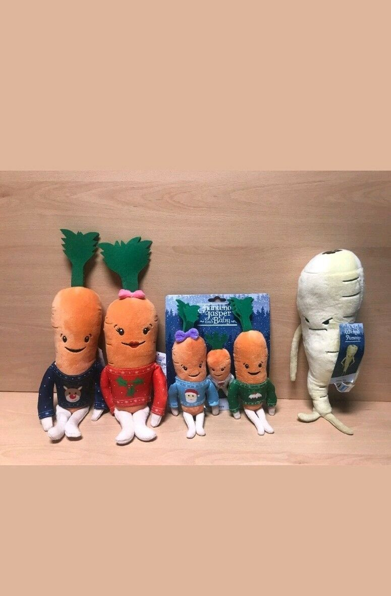 Aldi Kevin The Carrot 2018 Katie Kids & Baby & Parsnip Xmas Plush Soft Family