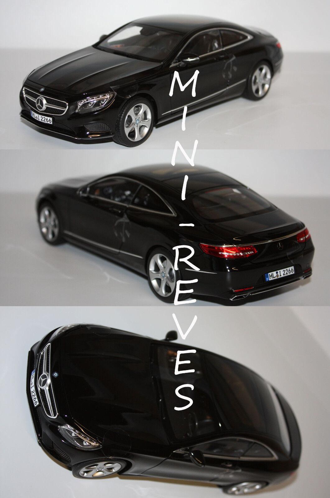 Norev Mercedes Benz S-CLASS Coupé 2014 Negro 1 18 183492 2